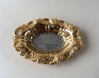 little german tray Wolff gold plated feingold dore or fin baroque style