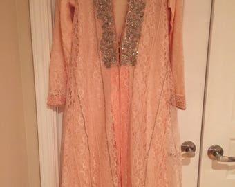 Stunning Pakistani Indian Formal/Wedding/Eid Heavily Embellished Stitched Dress Women's clothing