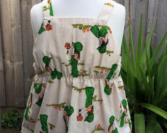 Girls floaty tank. Vintage Holly Hobby print. Size 1,4 & 6