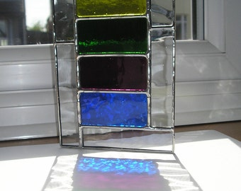 Ladder Rainbow, Stained Glass Suncatcher, Handmade in England