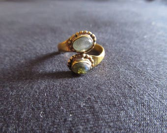 Adjustable Ring with Stones