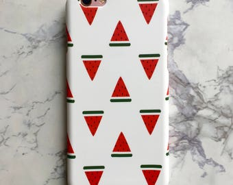 Bright Watermelon Summer Hard Matte Case for iPhone 6 6S