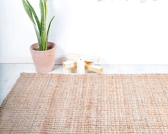 Jute Handwoven Rug. Natural Rug. Natural Home Decor. Knot Jute Rug. Sustainable Decor. Scandi Style. Eco Decor. Feng Shui Inspiration.