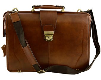Genuine Leather Doctor Bag with three compartments