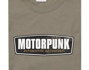 T-lab Motorpunk khaki men's t shirt, retro motoring tshirt, classic car t-shirt, car fans t shirt, car gift tee, gift for him, motoring gift