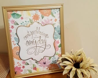 Count Your Blessings Photo Frame
