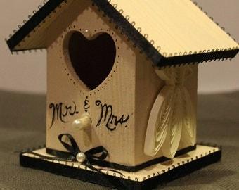 Black Tie Wedding Birdhouse Favor