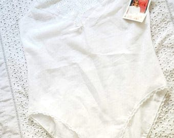White Vintage 80s Bodysuit New with Tag