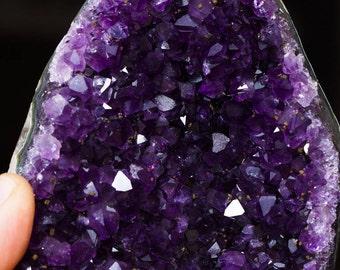 Beatiful DEEP PURPLE AMETHYST Geode Crystal