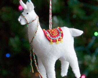 Fa La La La Llama Ornament PDF PATTERN