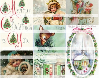 Merry Christmas To You,  Digital Collage Sheet
