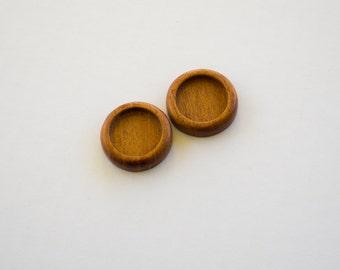 Fine finished No laser hardwood cab trays - Mahogany - 20 mm cavity - (Z203c-M) - Set of 2