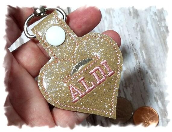 Aldi Coin Keeper, Aldi Quarter Keeper, Aldi Heart, Aldi Keychain