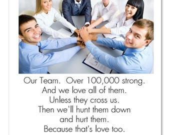 "Funny Business Satire Poster: ""Are You A Team Player?"" Inspired By 'Better Off Ted' Veridian Dynamics Corporate Humor 11x14 8x10 8.5x11"