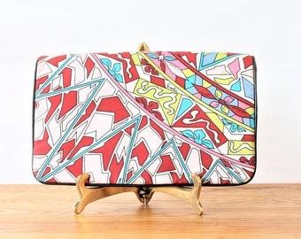 Vintage Silk Emilio Pucci Clutch Purse, 1970s, Made in Italy by Jana, Emilio Pucci handbag, Pucci Purse, Pucci Clutch, Pucci Evening Bag