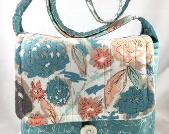 Cats And Flowers Cat Lady Bag By For Mew Cat Lover Purse, Gift For Cat Lover