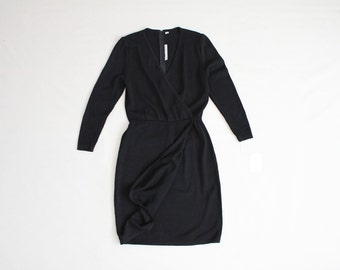 st john knits dress | black wool dress | knit dress