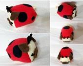 Love Pug- Lady Bug- Ready Ship - Medium