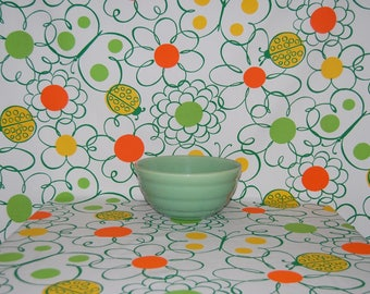 VINTAGE FABRIC 70s Mod Hippie Flower Power novelty fabric ladybug butterfly