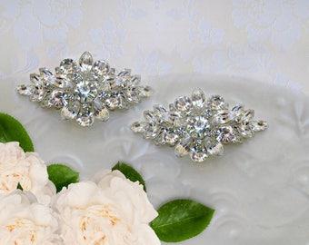 Wedding Barrettes, Crystal Hair clips, Bridal Hair Accessories, Bridesmaids hair clip, Bridal Barrette, Small hair clip, Bridesmaid Gift