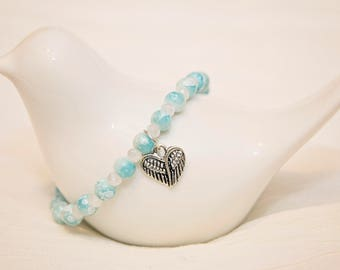 Angel wing bracelet, angel baby bracelet, mommy to an angel, miscarriage jewelry, angel wing jewelry, in memory jewelry, memorial jewelry