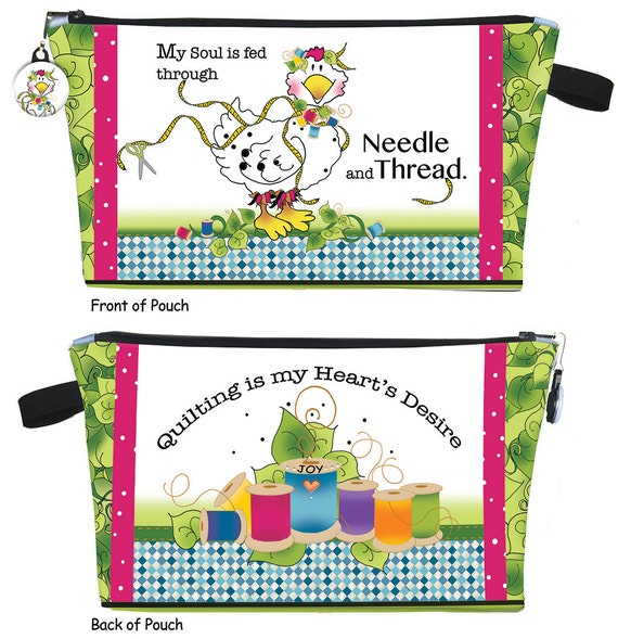 Soul Fed Chick Zippered Pouch Kit - Printed Body Art Panel