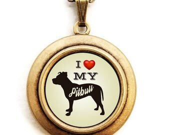 Dog Breed Locket - Choose Your Breed - Silhouette Dog Breed Locket Necklace - Unisex Beige Background - 31 Breeds to Choose From