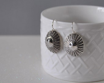 Sterling Sliver Opihi Shell Earrings