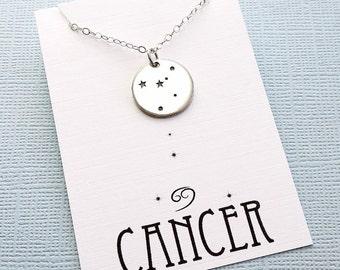 Cancer Jewelry   Cancer Necklace, Zodiac Jewelry, Zodiac Necklace, Constellation Necklace, Astrology Jewelry, Zodiac Sign Necklace, Zodiac