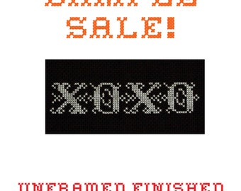 Sample Sale! XOXO - Unframed Cross Stitch