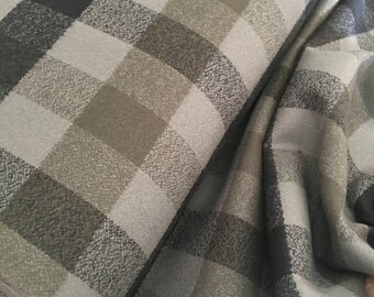 Hygge fabric, Hygge Home, Mammoth Flannel fabric, Plaid flannel, Apparel fabric, by Robert Kaufman, Mammoth Flannel Grey 123
