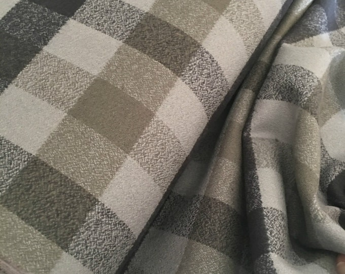 Hygge fabric, Hygge Home, Mammoth Flannel fabric, Plaid flannel, Apparel fabric, by Robert Kaufman, Mammoth Flannel Grey 123