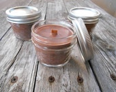 Mason Jar Candles-Holiday Beverage Scents-Wood Wick Soy Candles-Hot Cocoa-Eggnog-Bourbon-Rum-Cafe Mocha