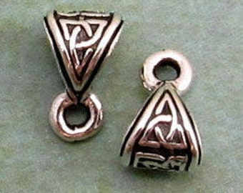 Small Celtic Bail, TierraCast, Antique Silver, 2 Pc. TS86