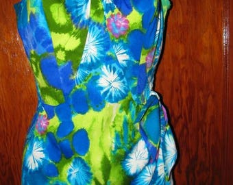 Vintage  1950's Swimsuit Ladies Swimming Suit Woman De-Weese Original, Summer Cruise Ship Fashion retro design style 43e