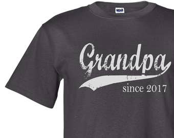 Grandpa since ANY year - screen print t-shirt - Father's Day gift - personalized for him - grandpa shirt - grandfather gift - graphic tee