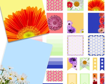 SALE - Daisies Spring Printable Planner Stickers