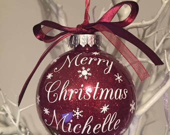 Personalised Merry Christmas Bauble