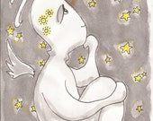 "Original Art for Inktober 2016 ""Daydreamer"""