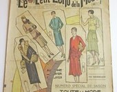 Vintage French Fashion and Ladies Magazine Le Petit Echo de la Mode October 1928