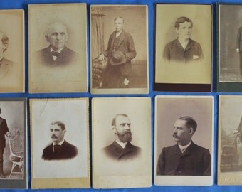 Lot of 10 Cabinet Photos Men Various Ages