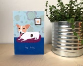 SALE: Happy Birthday friendly dog card cc67A