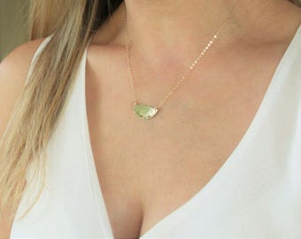 Dainty Necklace, Gold Necklace, Layering Necklace, Simple Necklace, Half Moon Necklace, Layering Necklace in Silver, Rose, 14kt Gold Filled