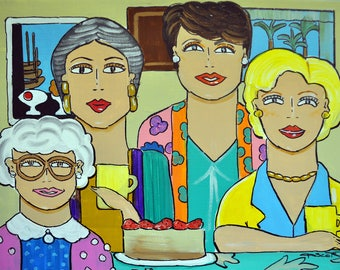 Golden Girls/Art/Print/Television/Retro/80s