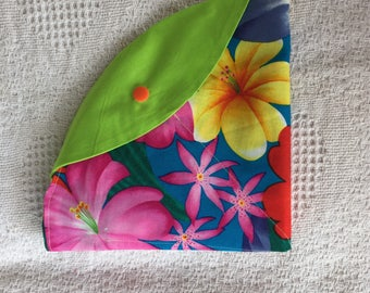 Circular Circular Knitting Needle Case- Tropical Blooms