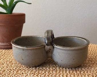 Double Bowl Serving Dish