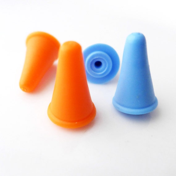 Knitting Needle Huggers - Point Protectors in Bright Sunset - Fits Most Sizes US 3 (3.25mm) Up To US 15 (10.0mm) - Two Sets!