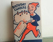 Vintage Candles, Birthday Candles, Gnome Box, Large Candles, Red Candles, Wax Candles, Birthday Party Cake Decorating, One Dozen Candles