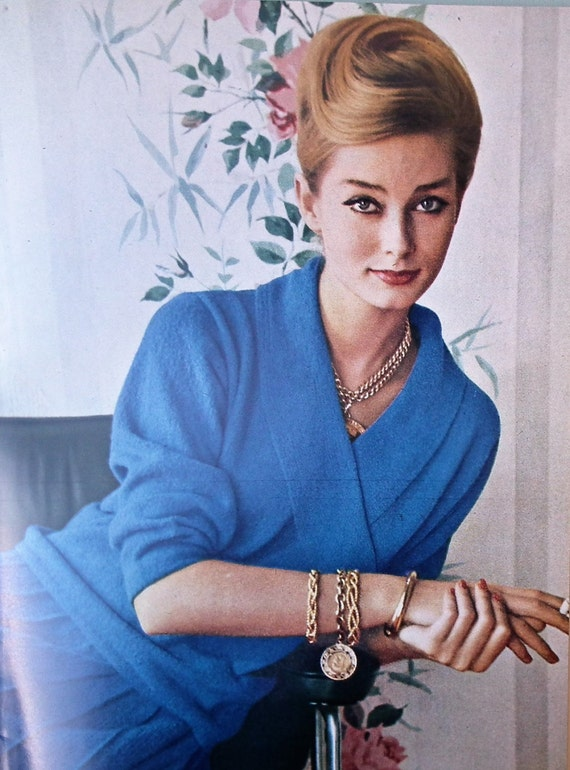 Tania Mallet in Vogue Knitting Book no. 60 (Jubilee edition), 1962