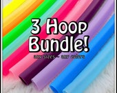BuY 3 and SaVE - SAVE 15% On Three CoLoReD PolyPro Hoops - ANY 3 CoLoRs & ANY 3 SiZeS! Choose Sizes/Colors in Notes to Seller.